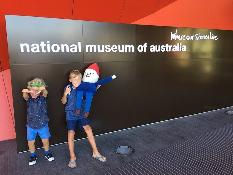 Photo- The National Museum Canberra entrance