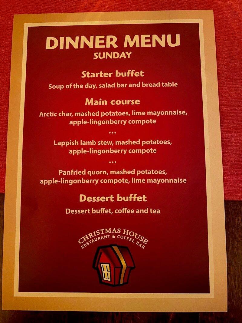 Image - Christmas house dinner menu sunday night