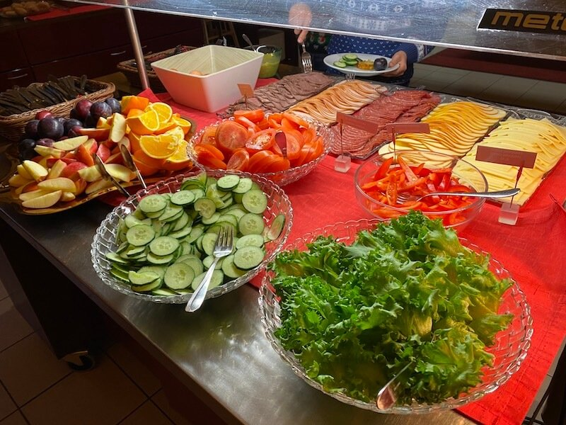 Image - Christmas house restaurant & coffee bar breakfast cold meats and salad