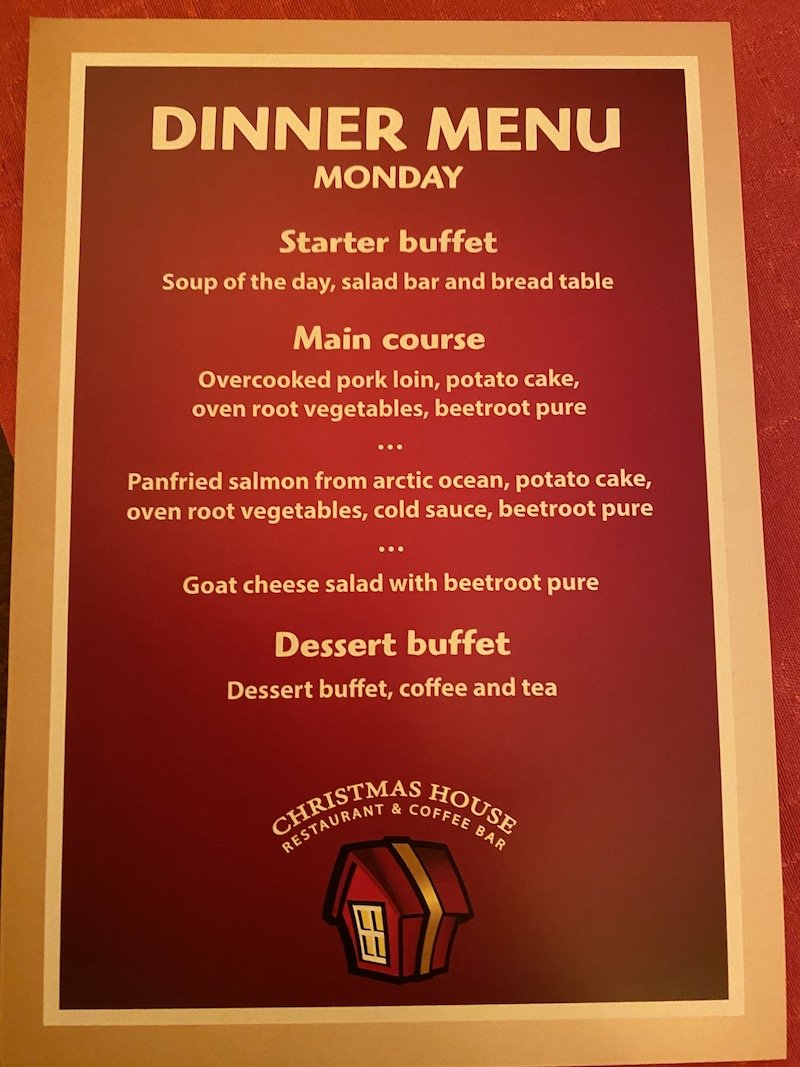 Image - Christmas house restaurant & coffee bar dinner menu monday