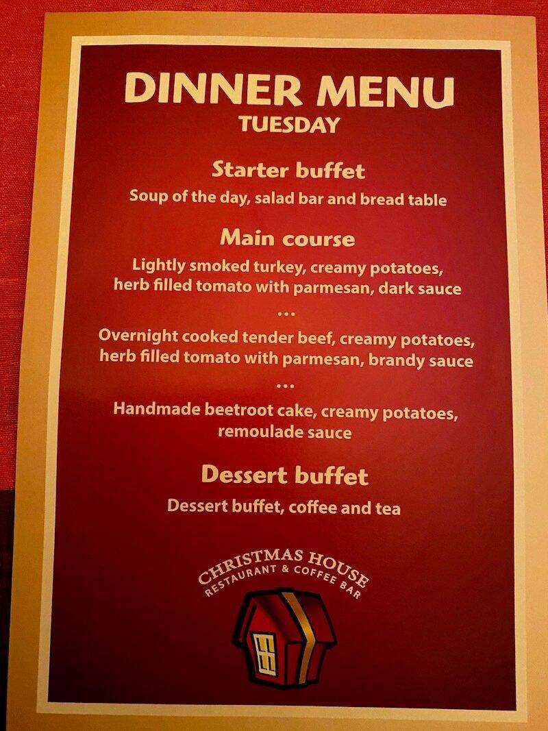 Image - Christmas house restaurant & coffee bar dinner menu tuesday