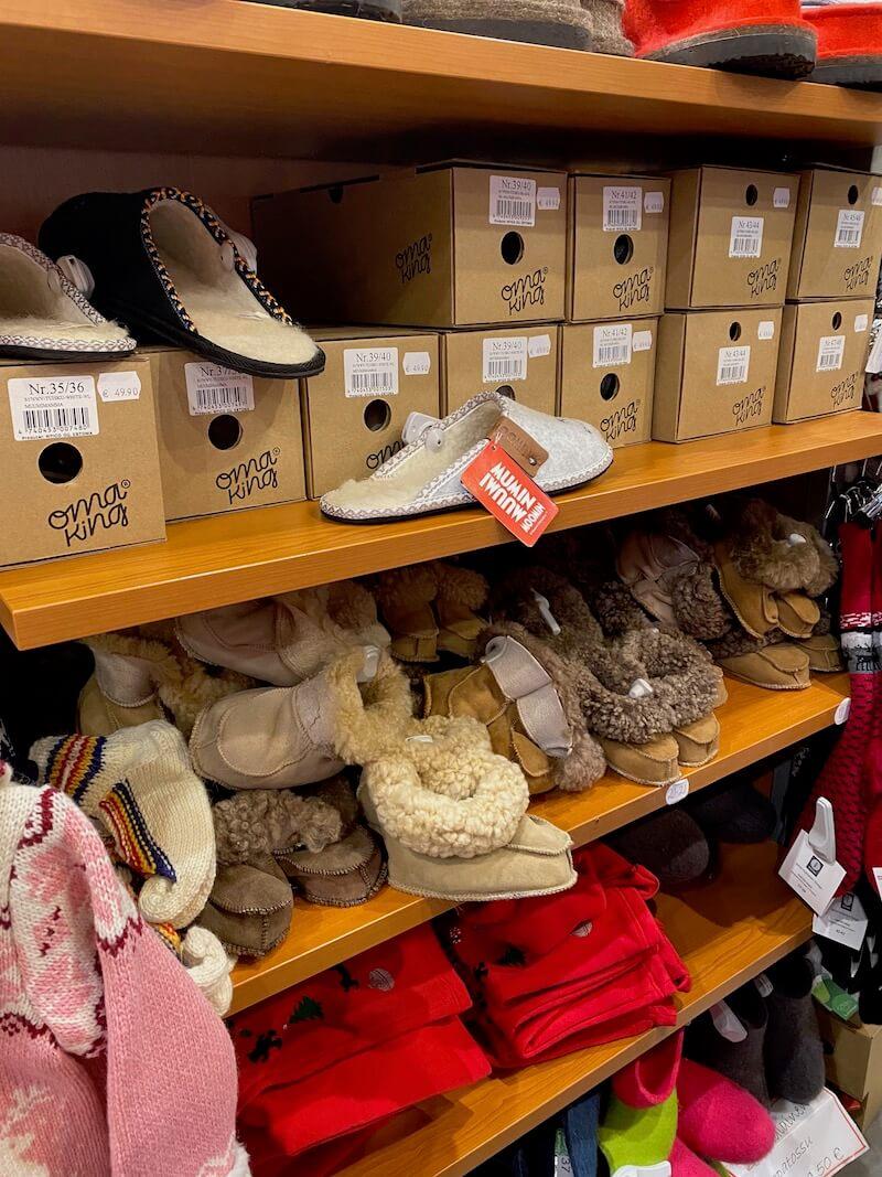 Image - Christmas house rovaniemi sheepskin shoes