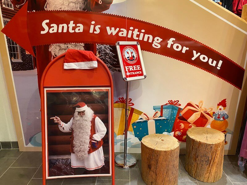 Image - Christmas house santa and exhibition sign