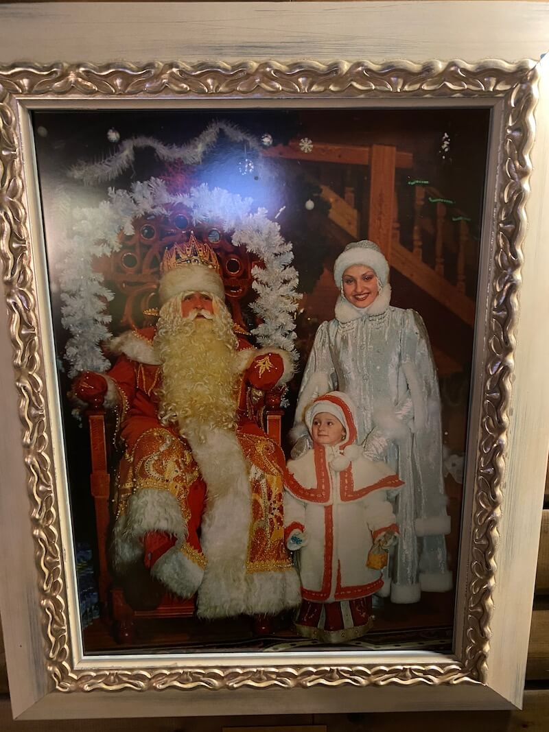 Image - Christmas house santa and exhibition vintage painting