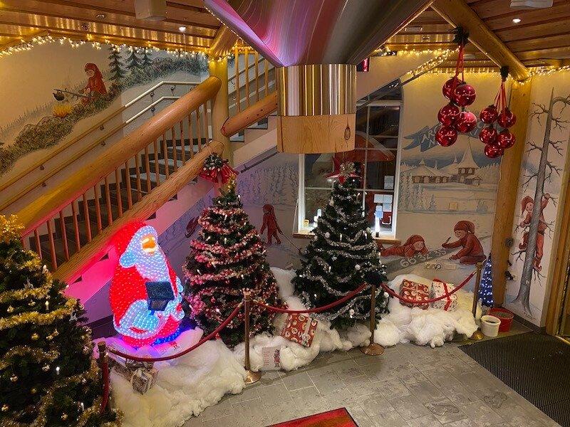 Image - Christmas house santa claus village entrance