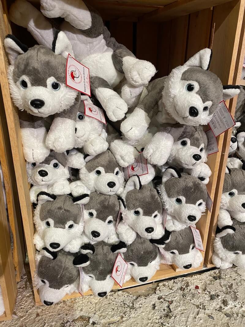 Image - Santa Claus Office gift store husky toys