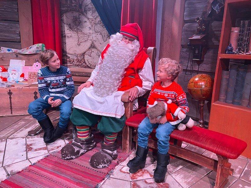Image - Santa Claus Office joking with boys