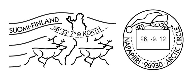 official arctic circle postmark