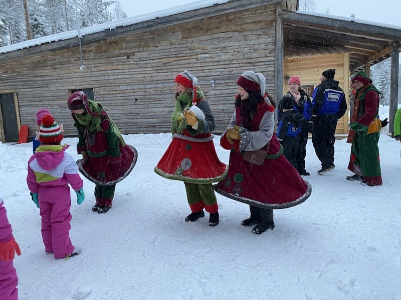 image - elf greeting at joulukka forest santa factory tour