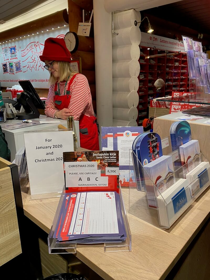 image - official santa post office counter