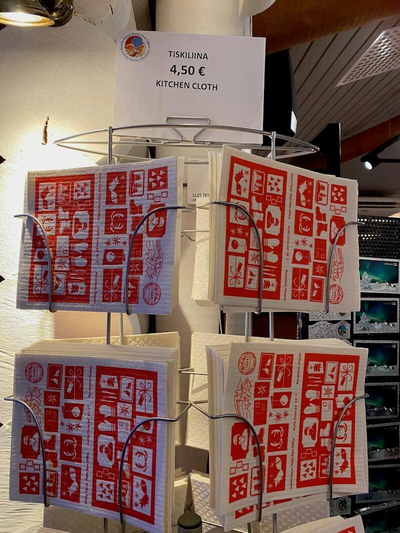 image - official santa post office gift shop cloth