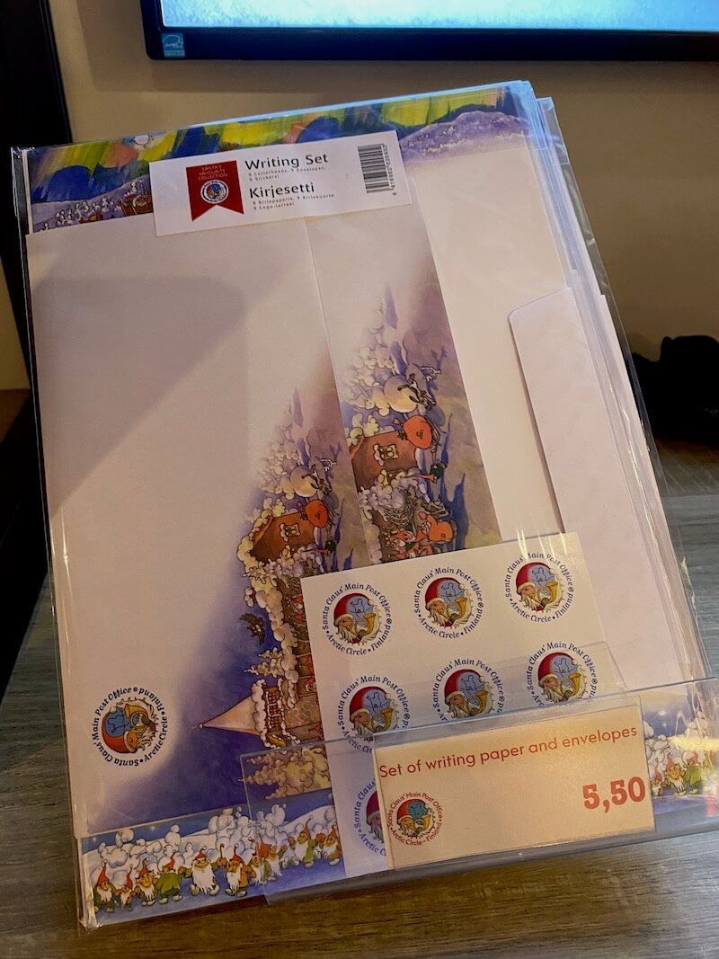image - official santa post office rovaniemi letter writing set