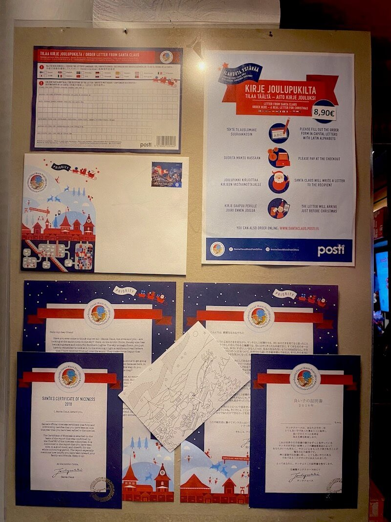 image - official santa post office rovaniemi posted letter