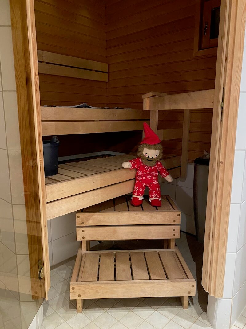 image - santa claus holiday village cabin sauna