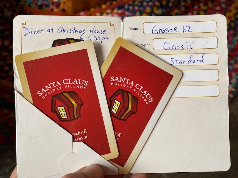 image - santa claus holiday village entry cards