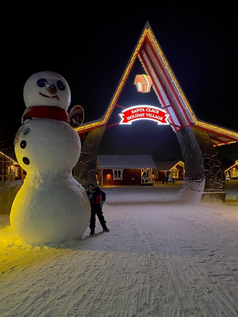 image - santa claus holiday village night view