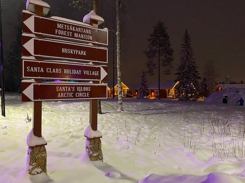 image - santa claus holiday village sign