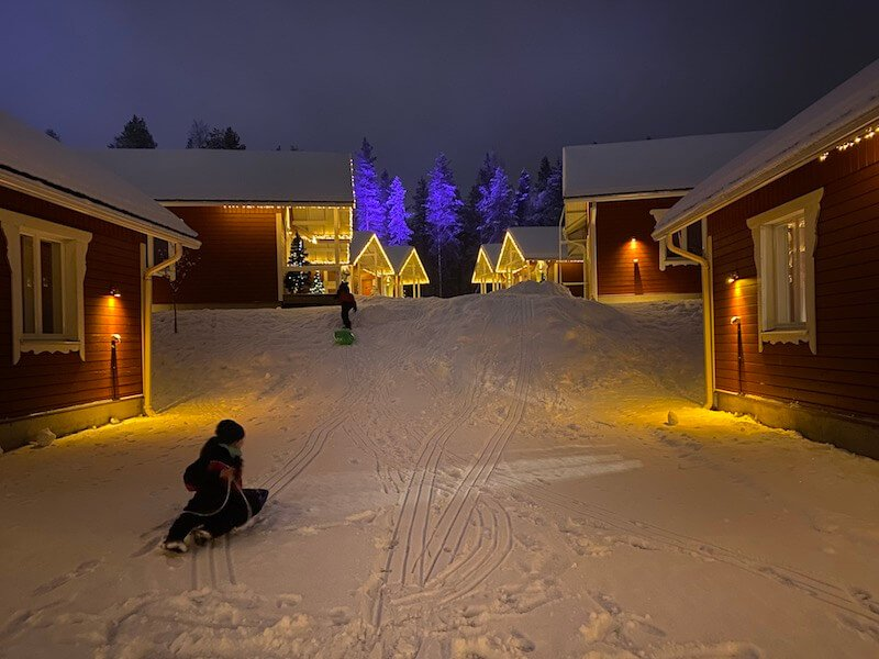 image - santa claus holiday village sledding hills