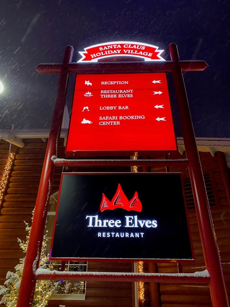 image - three elves restaurant sign