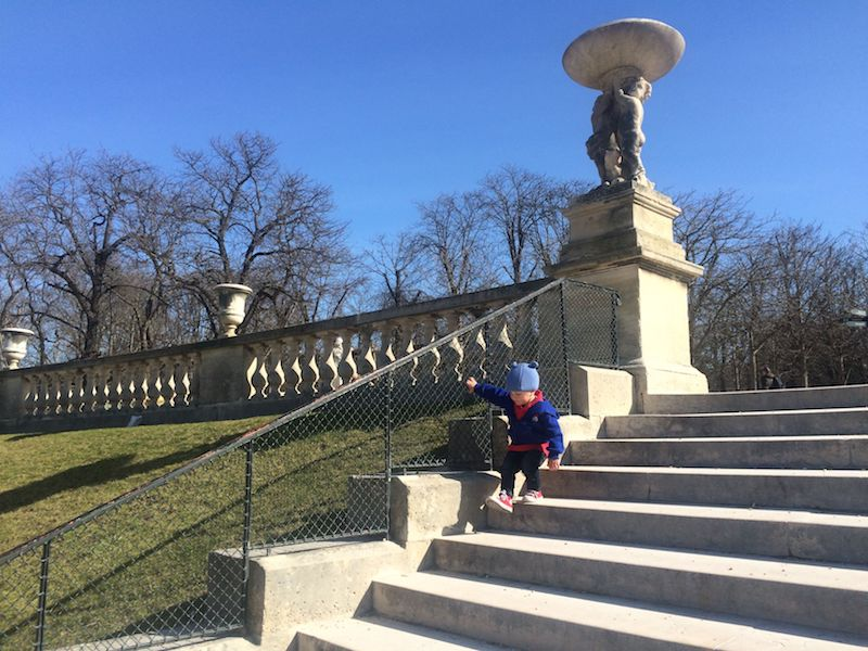 Best Gardens in Paris-stairs at jardin luxembourg play area