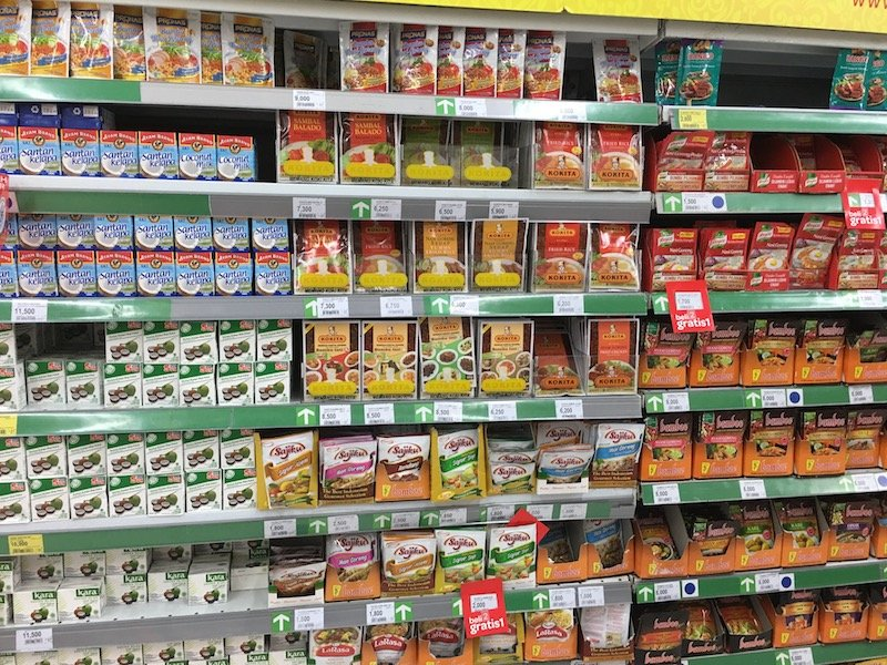 Carrefour Bali Supermarket grocery products for pantry pic