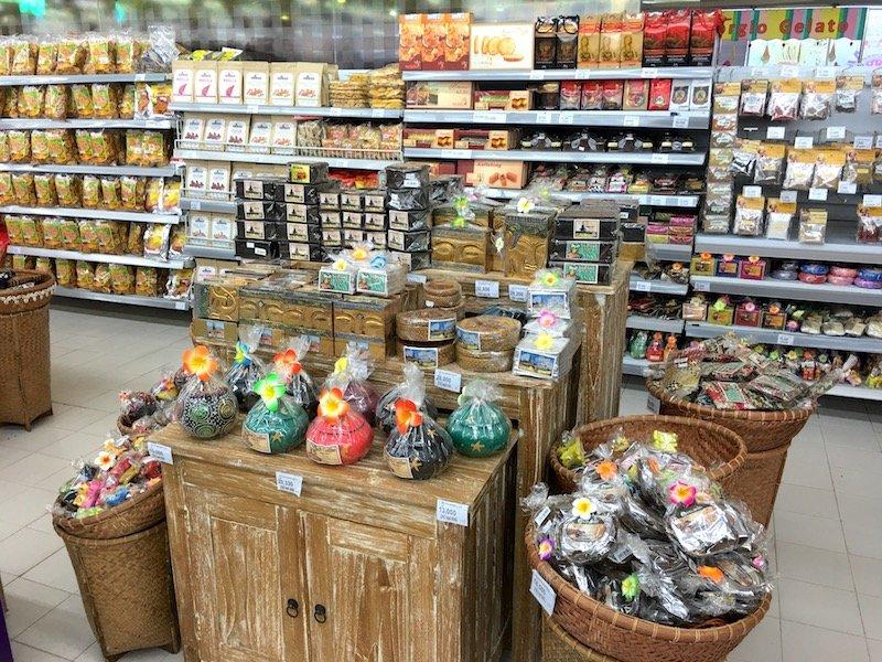 Carrefour Bali Supermarket souvenirs