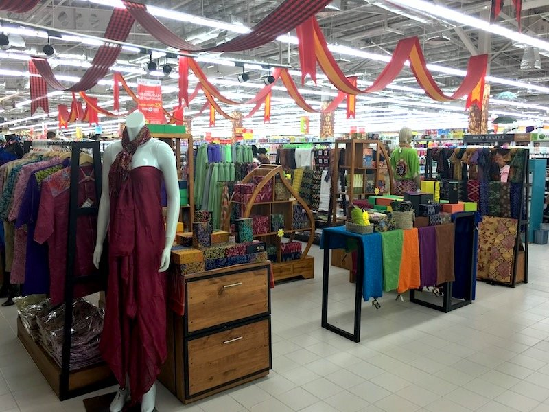 Carrefour Bali Supermarket- womens and mens traditional balinese clothing