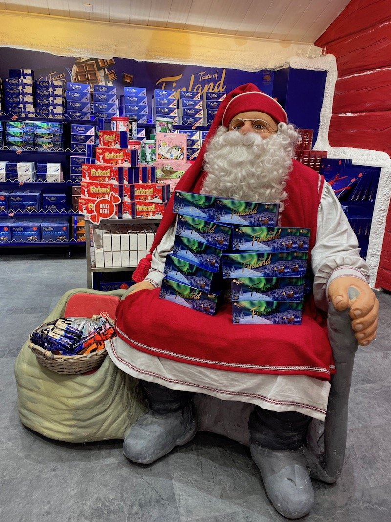Image - Karl fazer shop santa village statue