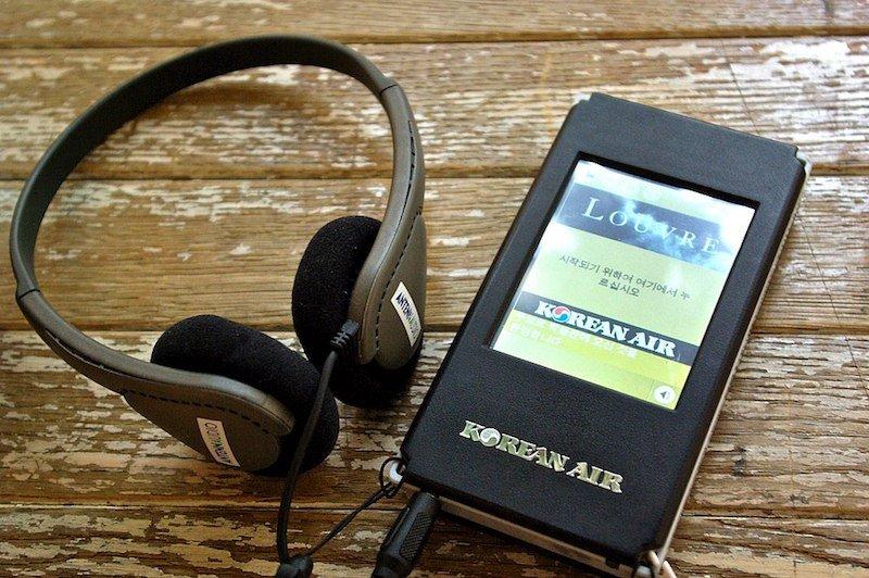 Louvre museum audio tour headphones pic