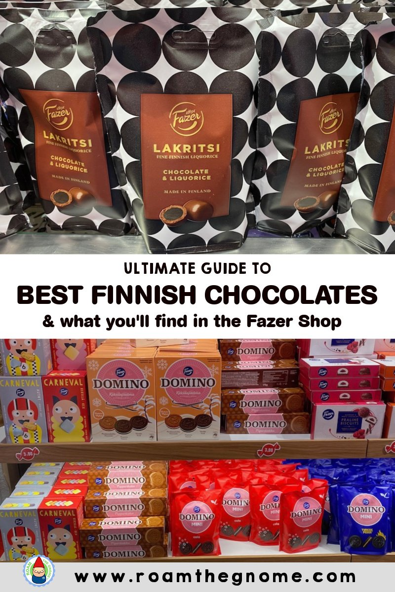 PIN BEST FINNISH CHOCOLATES FAZER SHOP