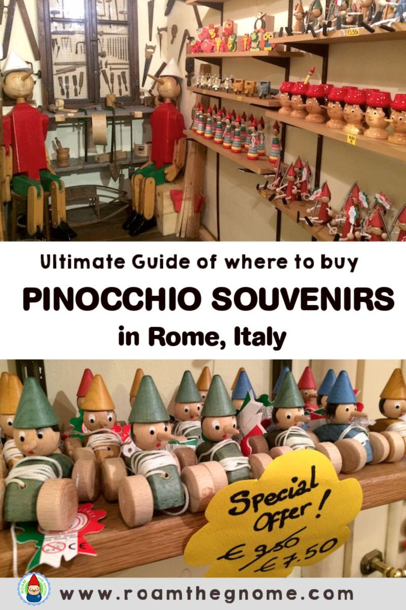 PIN pinocchio rome toy shop