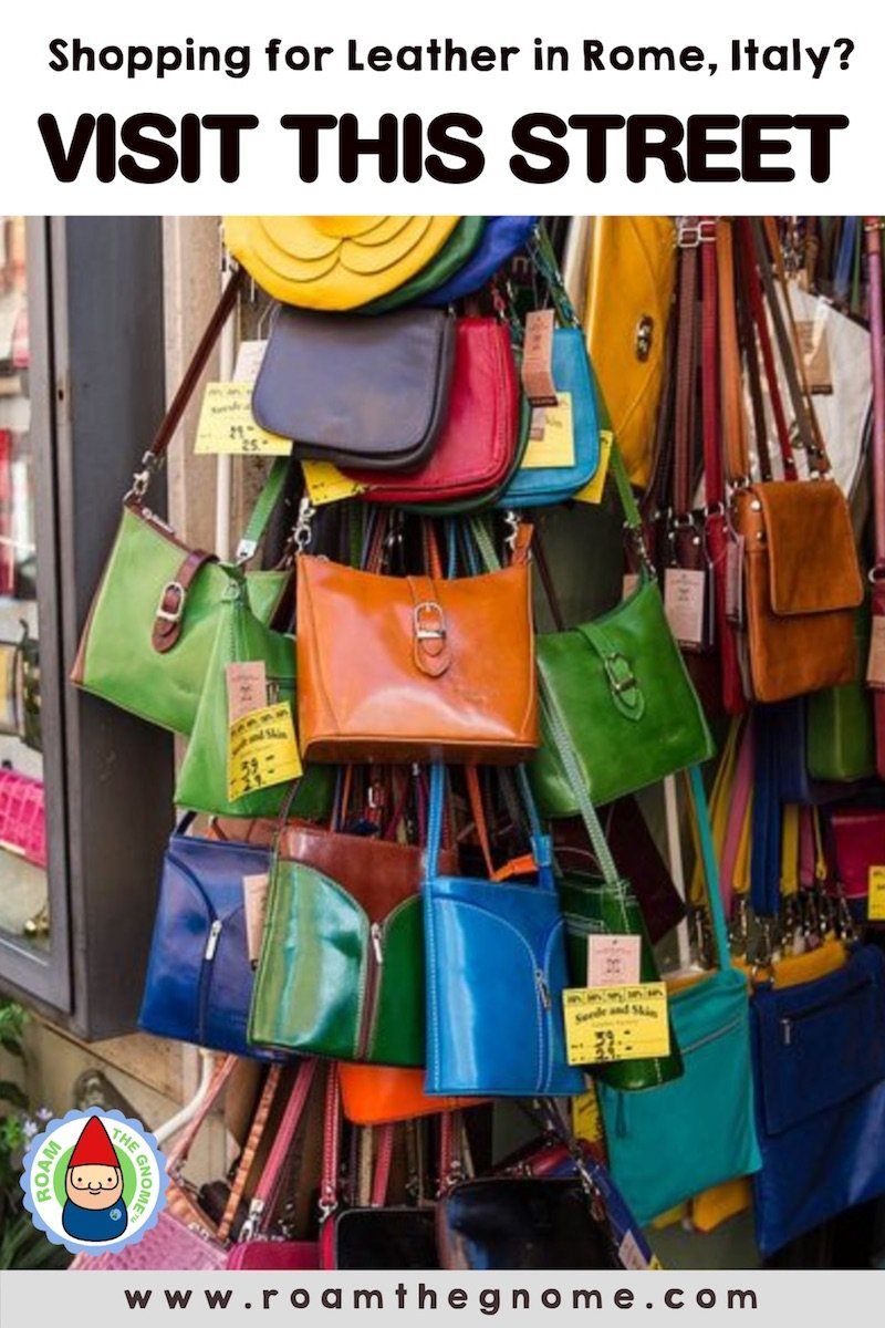 italian leather handbags in rome pin pic