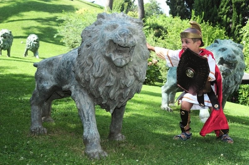 best place to stay in rome with kids - rome cavalieri hotel kids club gladiator