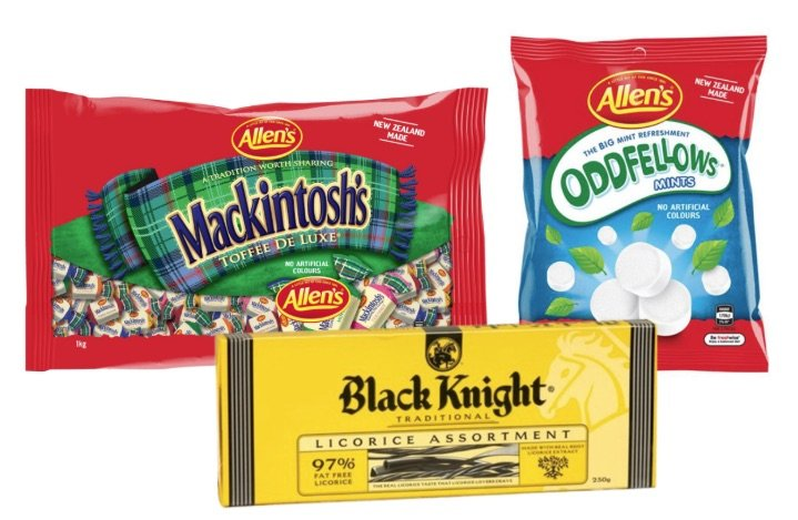 black knight lollies from new zealand pic