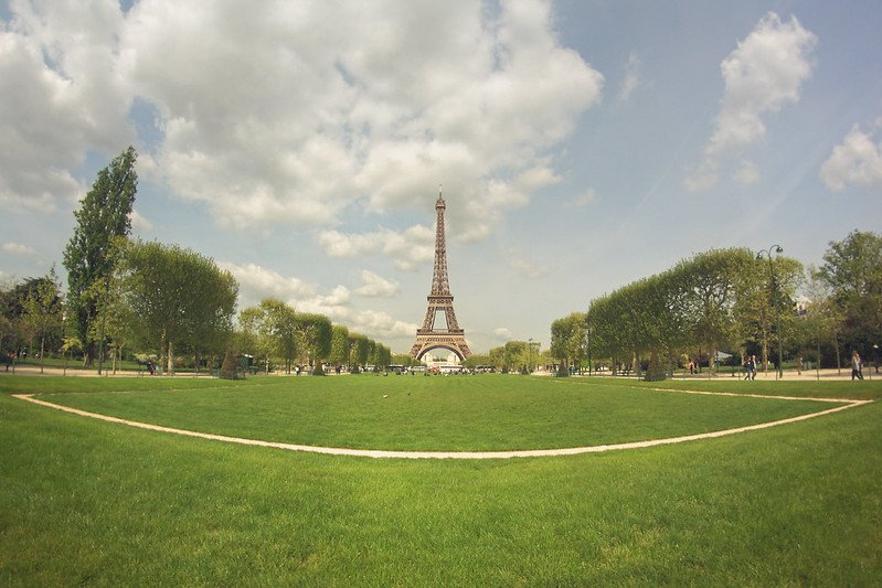 eiffel tower fisheye pic by juanedc
