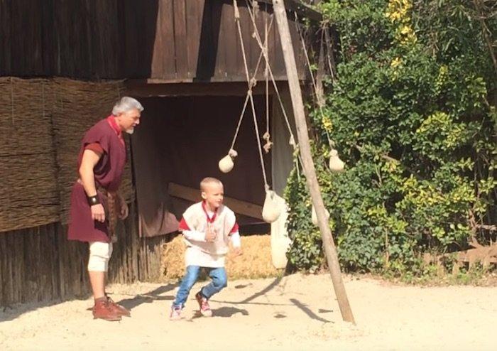 gladiator training practice