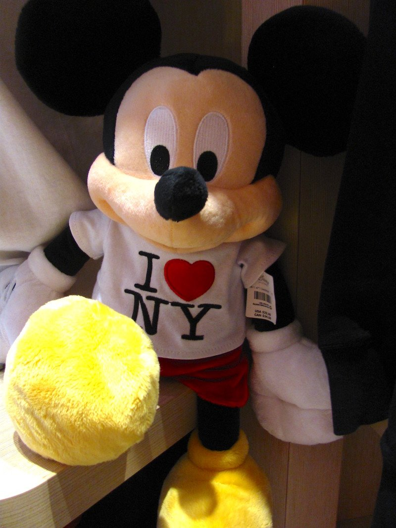 i love NY mickey mouse disney store new york by loren javier