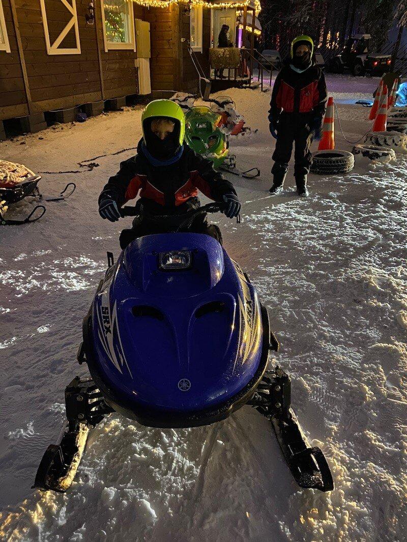 image - mini snowmobile hire