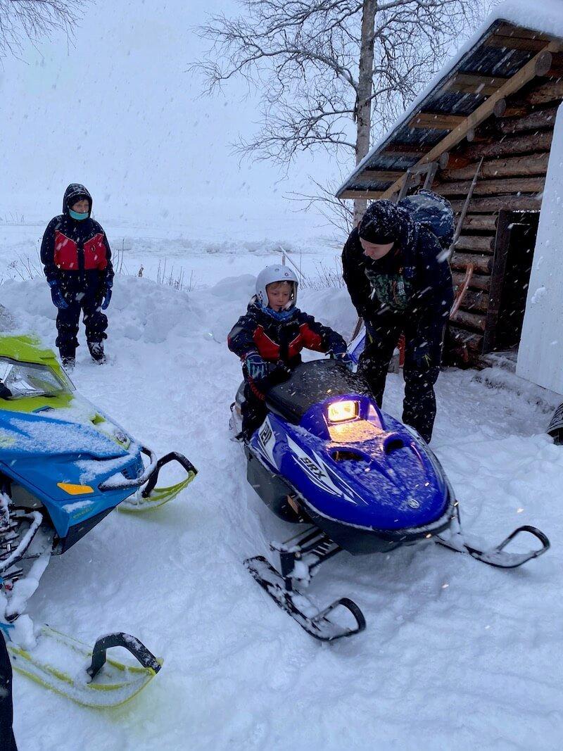 image - santa fun day snowmobile