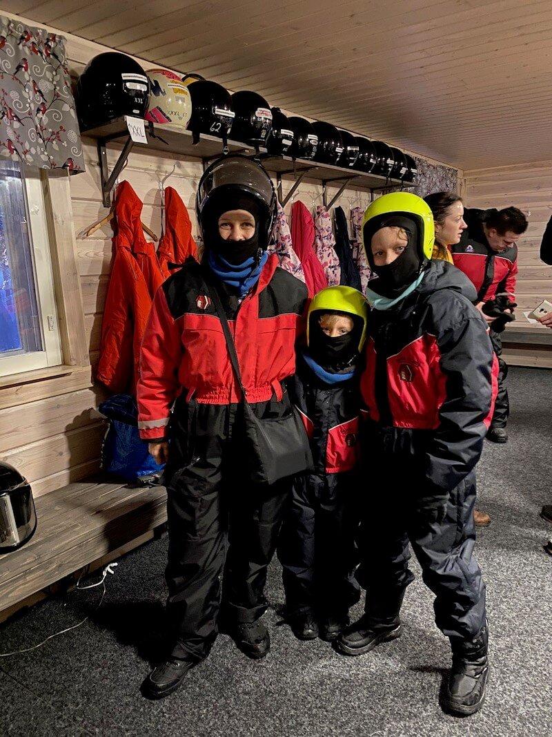 image - snowmobile park helmet hire
