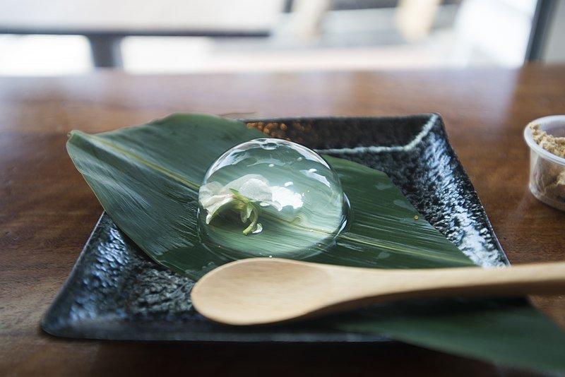 japanese Raindrop Cake by ty night wikimedia