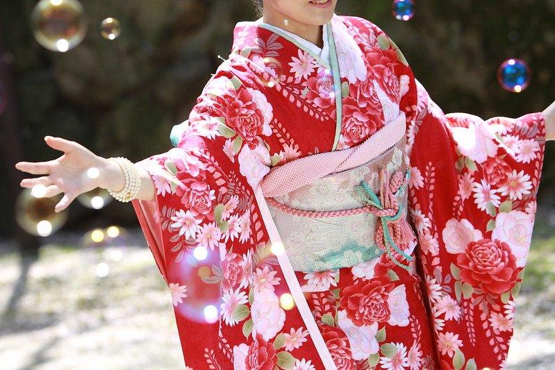 japanese fabric kimono bubbles by seiji