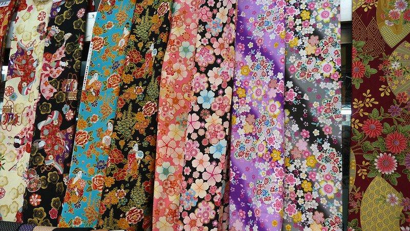 japanese kimono fabric by dozodomo