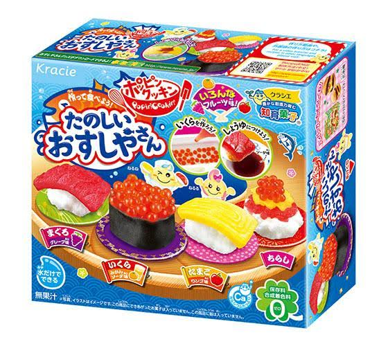 kracie popin' cookin' candy sushi candy kit