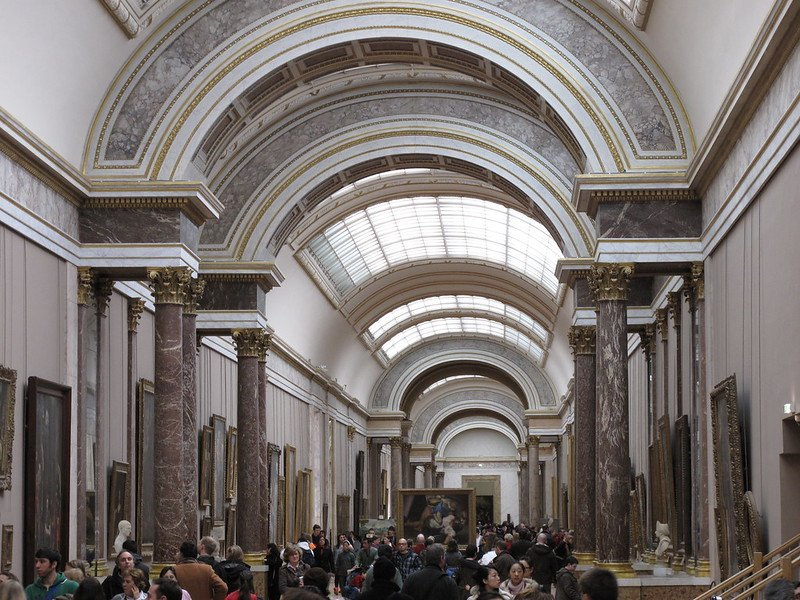 louvre museum halls by martin brochhaus