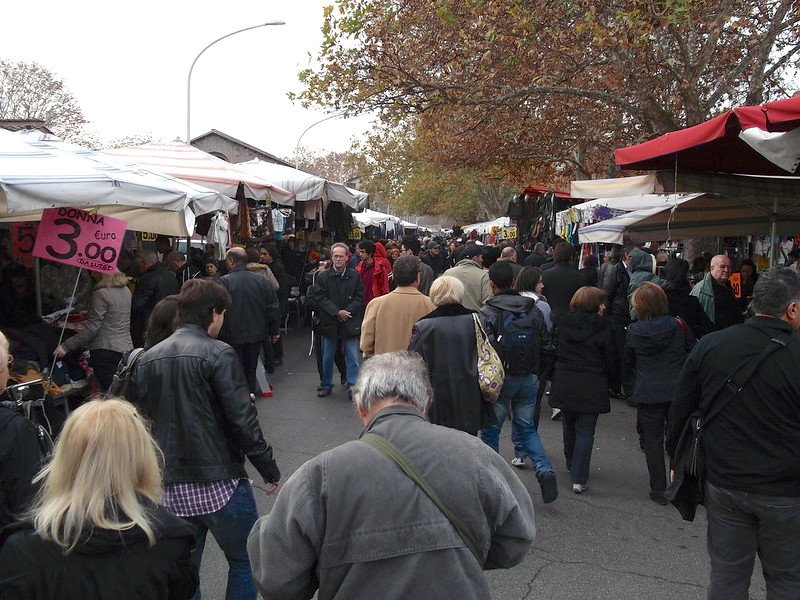 porta portese market in rome italy by lorena suarez