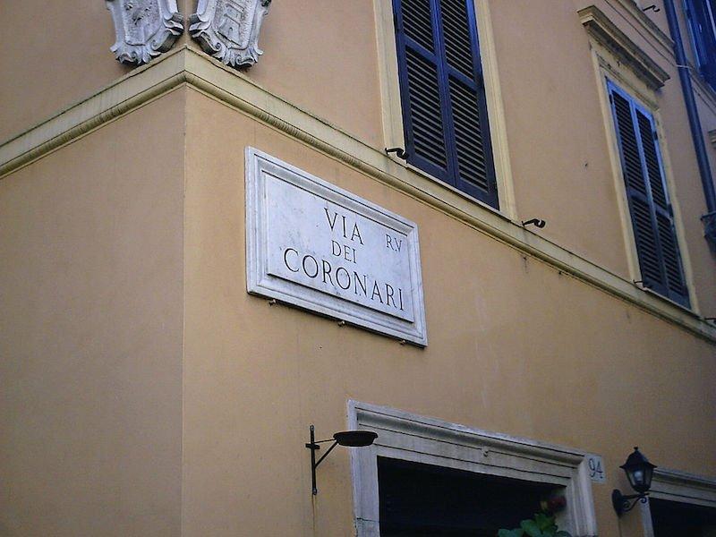 rome souvenirs - Via_Dei_Coronari_(Straßenschild) pic