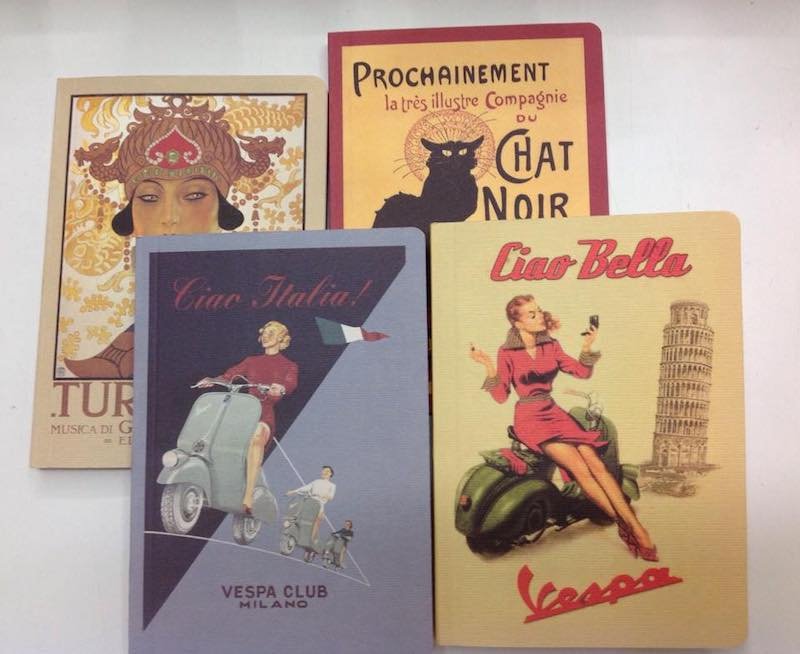 rome souvenirs - notebooks from prints from rome with vintage covers pic