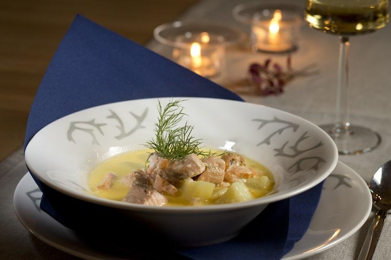 salmon soup by visit rovaniemi