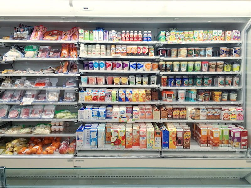 tokyo supermarkets - dairy aisle pic